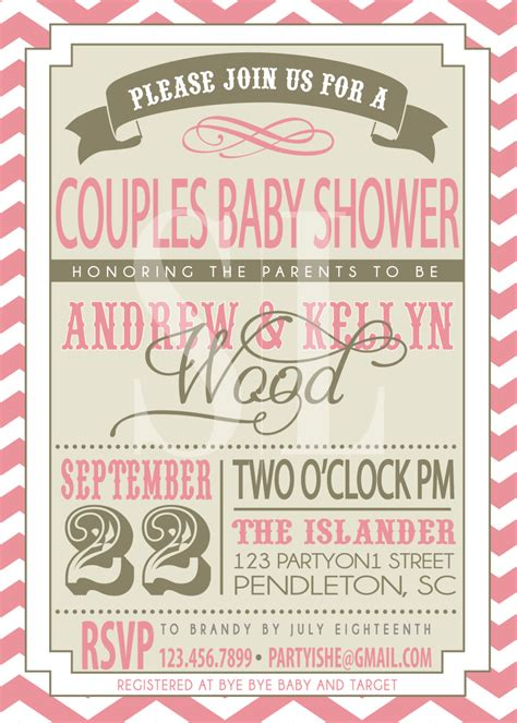 on sale couples baby shower invitation