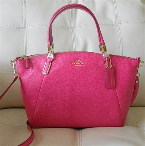 Coach Margot Small Sign Saddle 3 new coach small kelsey satchel in pebble leather pink ruby