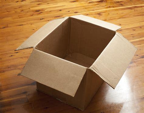 emptied cardboard box emptied cardboard box
