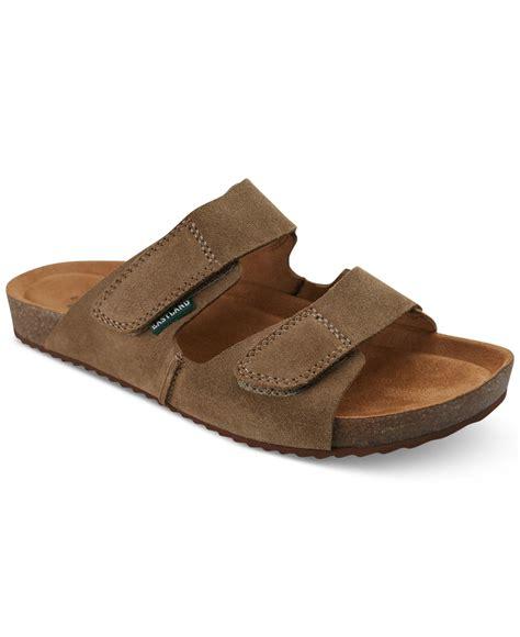 eastland sandals eastland s caleb sandals in brown for khaki suede