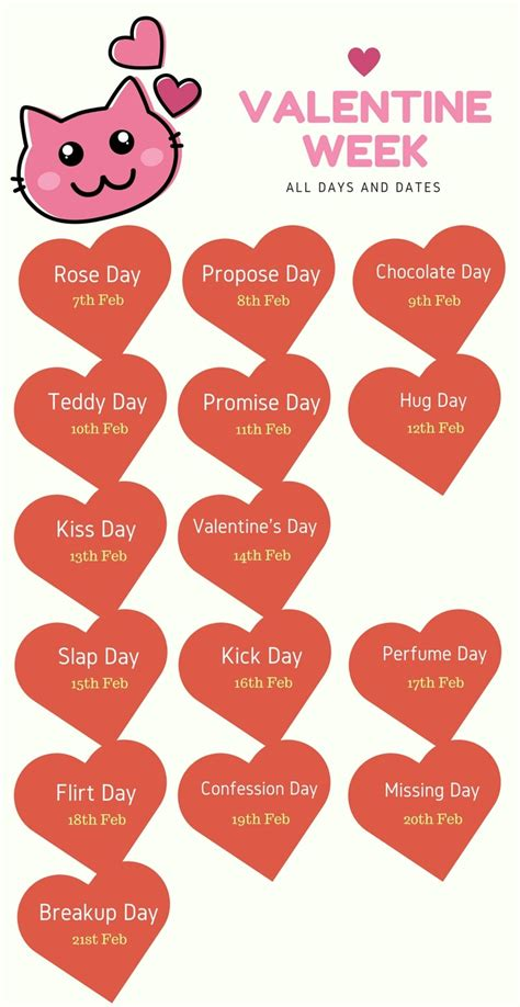 week list 2018 week list 2019 day propose day hug day
