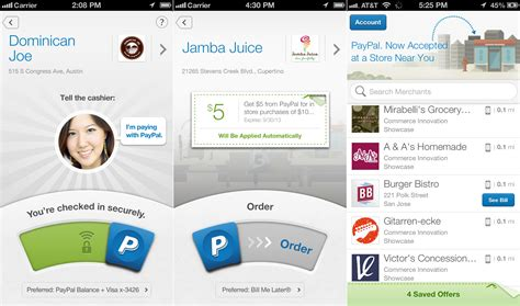 paypal mobile app paypal s redesigned mobile apps adds check ins coupons