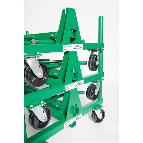 Conduit Rack by Greenlee 668 Mobile Conduit And Pipe Rack With Casters