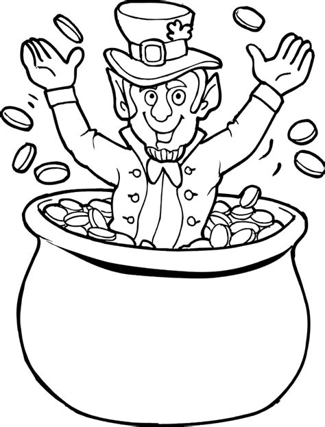 pot of gold coloring pages az coloring pages