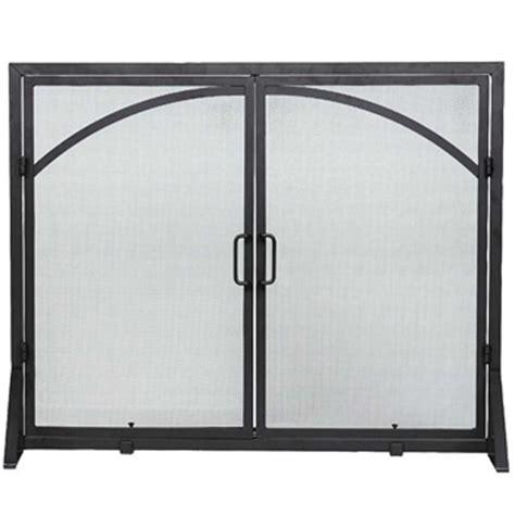 flat fireplace screen with doors flat fireplace screen with center doors minuteman