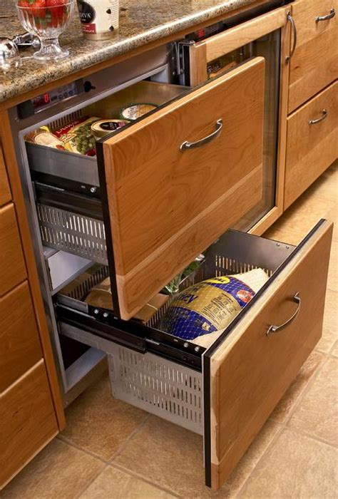 under counter freezer drawers undercounter refrigerator drawers theres no place like
