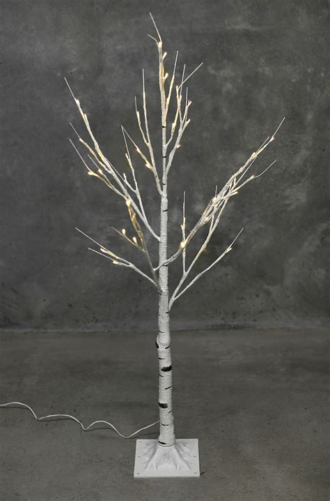 lighted birch trees led birch tree warm white 4ft