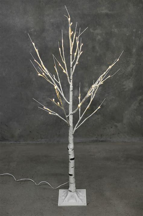 white birch tree with lights led birch tree warm white 4ft
