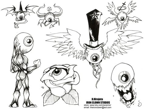 small tattoo flash art flash 01 by theironclown on deviantart