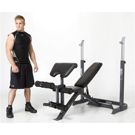 marcy mid width bench 2 pc marcy 174 mid width bench and rack 213299 at