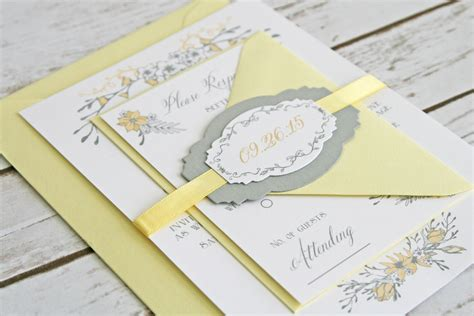 Wedding Invitations Yellow And Grey by Grey And Yellow Wedding Invitations Uk Wedding