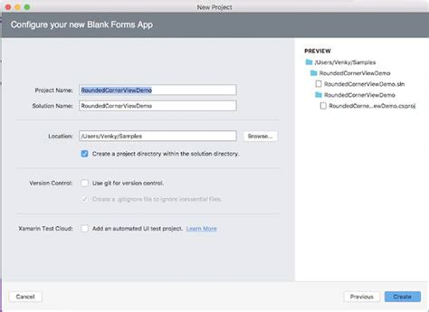 xamarin view cell tutorial how to set corner radius for view layout cell grid