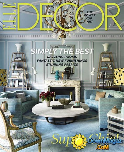 home decor magazines usa elle decor usa november 2015 187 download pdf magazines