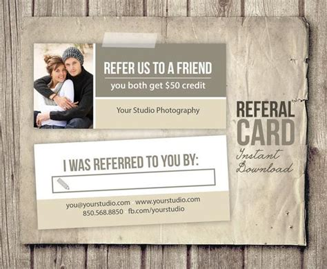 Photography Referral Card Template Rep Card Referral Refer A Friend Card Template Free