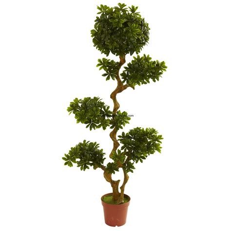 5 uv resistant outdoor artificial pittosporum tree w pot