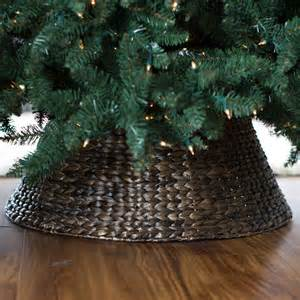Rattan Bed Belham Living Classic Thick Woven Dark Brown Tree Collar