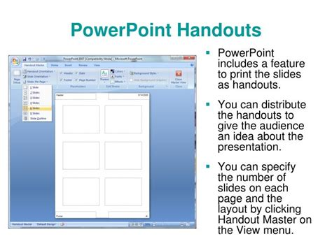 powerpoint tutorial handout ppt microsoft powerpoint 2007 introduction to