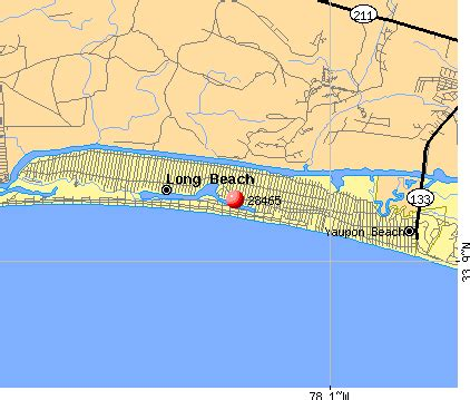 map of oak island carolina 28465 zip code oak island carolina profile