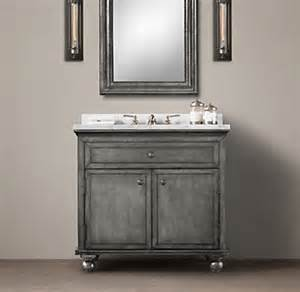Zinc Vanity Annecy Metal Wrapped Single Vanity
