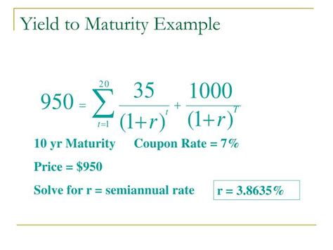 exle of yield to maturity ppt bond prices and yields powerpoint presentation id