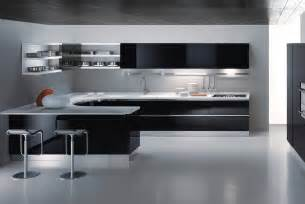Modern Kitchen Design by Black And White Kitchen Design Maxima Interior Design