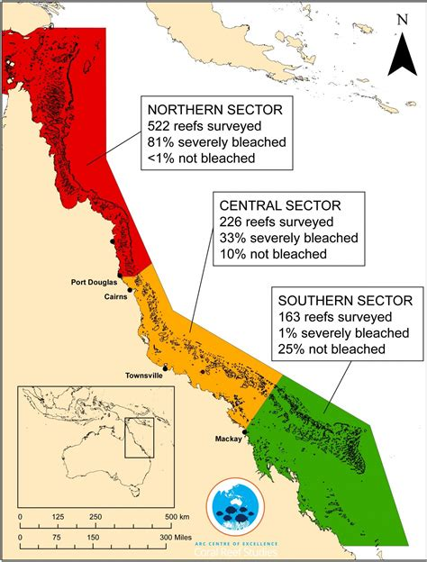 great barrier reef map bleaching of the great barrier reef azimuth