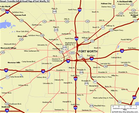 ft texas map map of fort worth texas vacations travel map