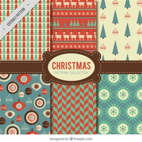 retro christmas pattern vector free collection of vintage christmas patterns vector free