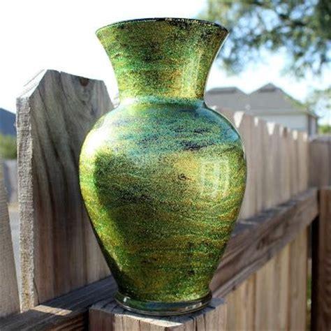 Mod Podge Glitter Vase by This Vase Treatment Modge Podge Glitter Paint