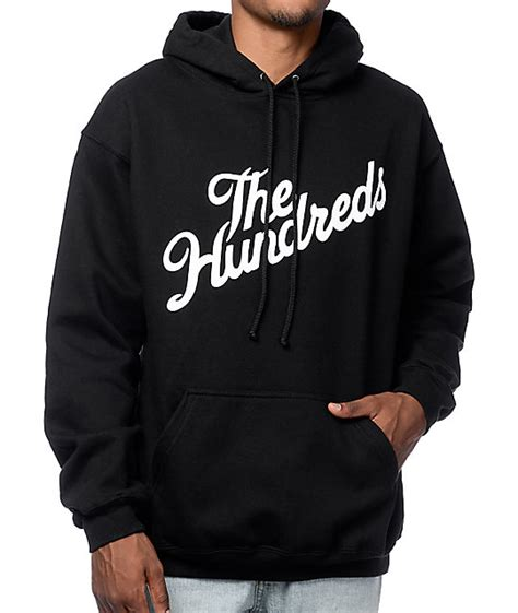 Sweater Hoodie What Is The Plan Front Logo The Hundreds Forever Slant Black Pullover Hoodie