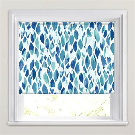 modern roller blinds patterned modern blue green aquamarine dewdrop patterned roller