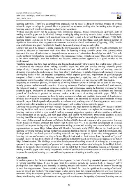 writing a scientific paper developing teaching material of writing scientific paper