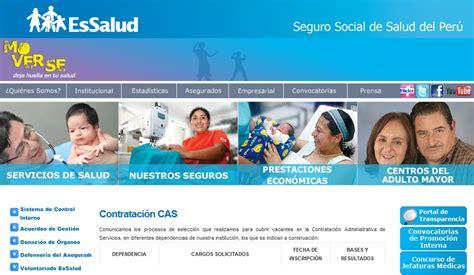 convocatorias laborales cas essalud 2016 essalud convocatoria 2016 newhairstylesformen2014 com