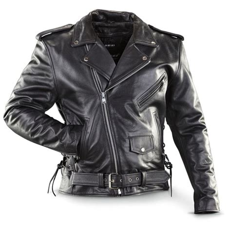 Jaket Cewe Cool 1 cowhide top quality black leather biker jacket with side lacing zip out liner by ik