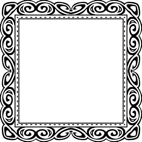 design frame photo clipart abstract black frame design 14
