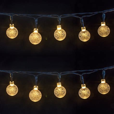 28ft outdoor string christmas lights led concepts 30 light 16 ft globe string lights reviews wayfair