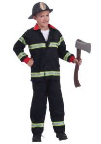 firefighter halloween costume toddler child black fireman costume