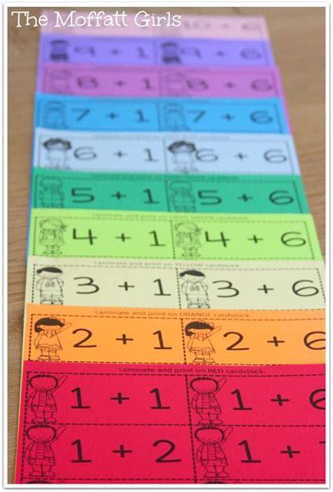 make your own math flash cards colored paper and facts on