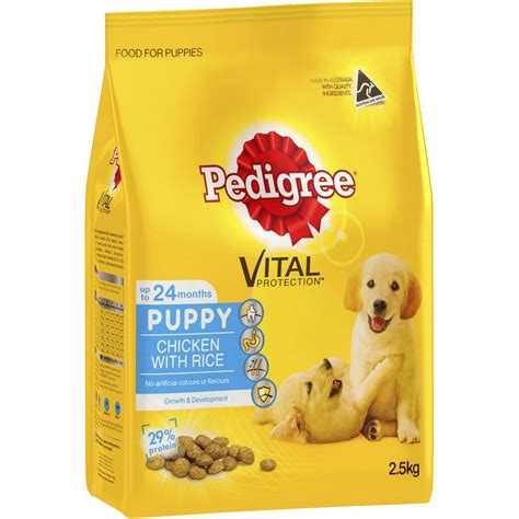 pedigree food puppy pedigree puppy food chicken rice woolworths