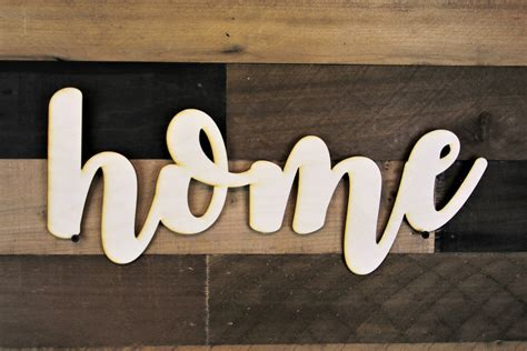 home cutout sign home script sign 3d home wood sign home