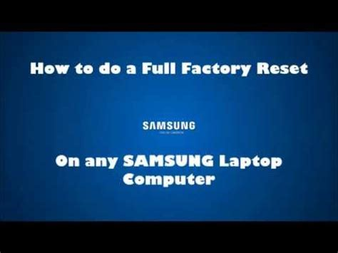 reset samsung laptop to factory settings windows 8 samsung laptop factory default restore reinstall windows