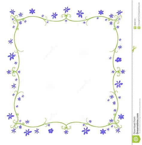 Vorlage Word Rahmen Fr 252 Hlings Oder Sommer Rahmen Blumen Stock Abbildung