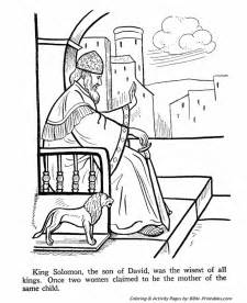 wise king solomon old testament coloring pages bible