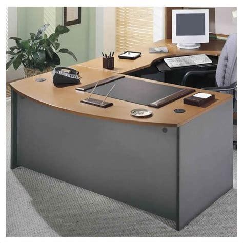 bush bow front desk bush business series c 3 piece l shape bow front desk