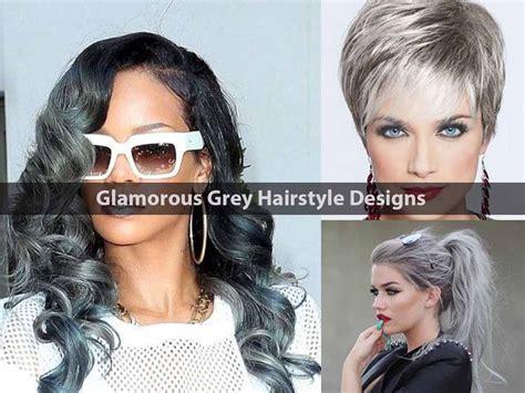 glamorous styles for medium grey hair 12 glamorous grey hairstyle designs hairstyle for women