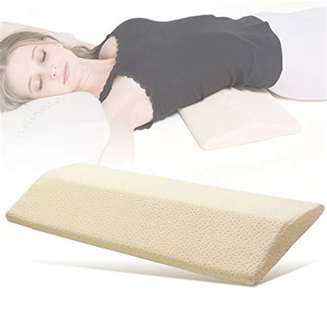 lumbar support bed pillow long sleeping pillow for lower back pain multifunctional