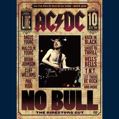 acdc, no bull (dvd / blu ray) new music, songs, & albums, 2018