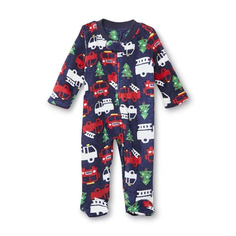 little wonders newborn boy s sleeper pajamas fire trucks