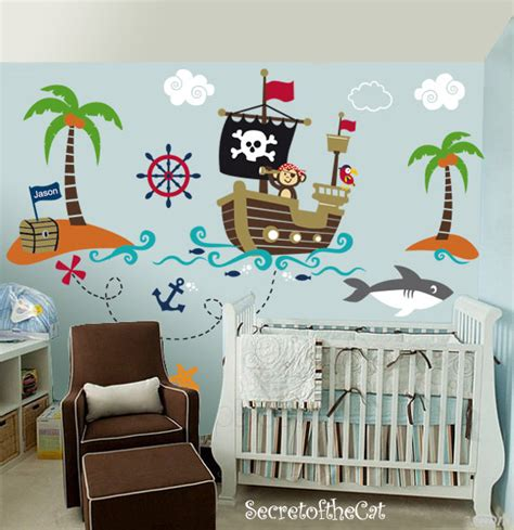 Car Wall Decals For Nursery Nursery Wall Decal Wall Decals Nurseryl Pirate World Decal