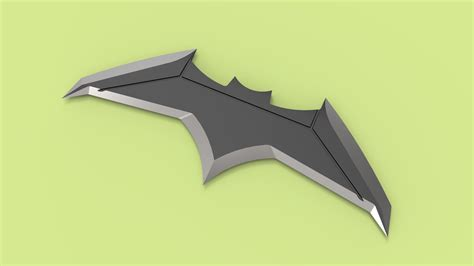 Batarang Senjata Batman Vs Superman Of Justice batarang batman vs superman of justice 3d model obj stl sldprt sldasm slddrw ige igs iges